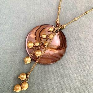 ❤️5 for $15 Lia Sophia Gold Tone Pendant Necklace